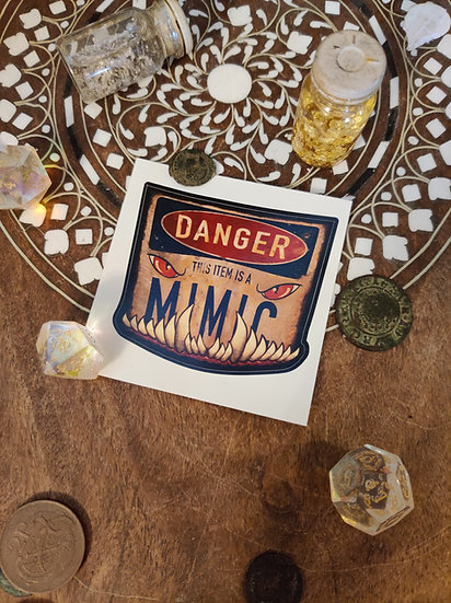 Graphic Toothy Mimic Warning Sticker