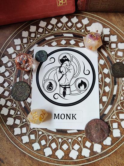 Monk Class Sticker