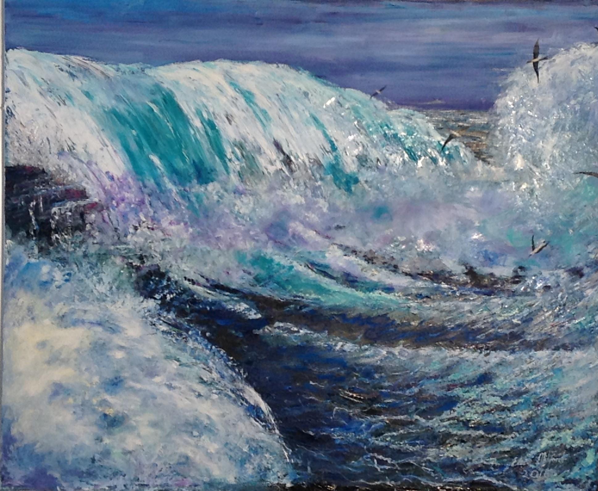 'Rage' oil on canvas