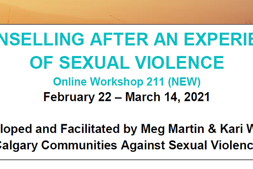 Counselling After an Experience of Sexual Violence