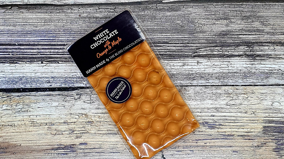 White chocolate  Orange and maple  bar