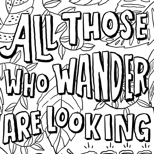 Wander Coloring Page