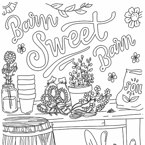 Sweet Barn Coloring Page
