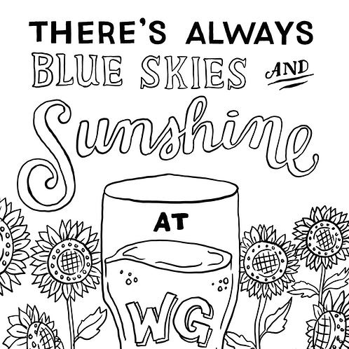 Sunshine Coloring Page