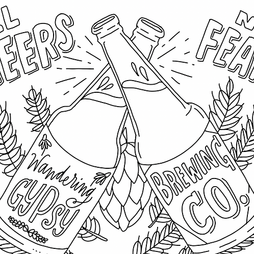 Cheers Coloring Page