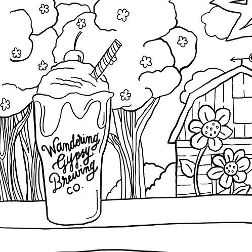 Cream Soda Coloring Page