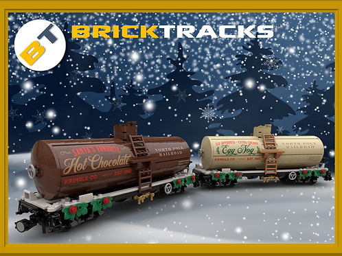 NPRR Hot Chocolate and Egg Nog Tank Cars