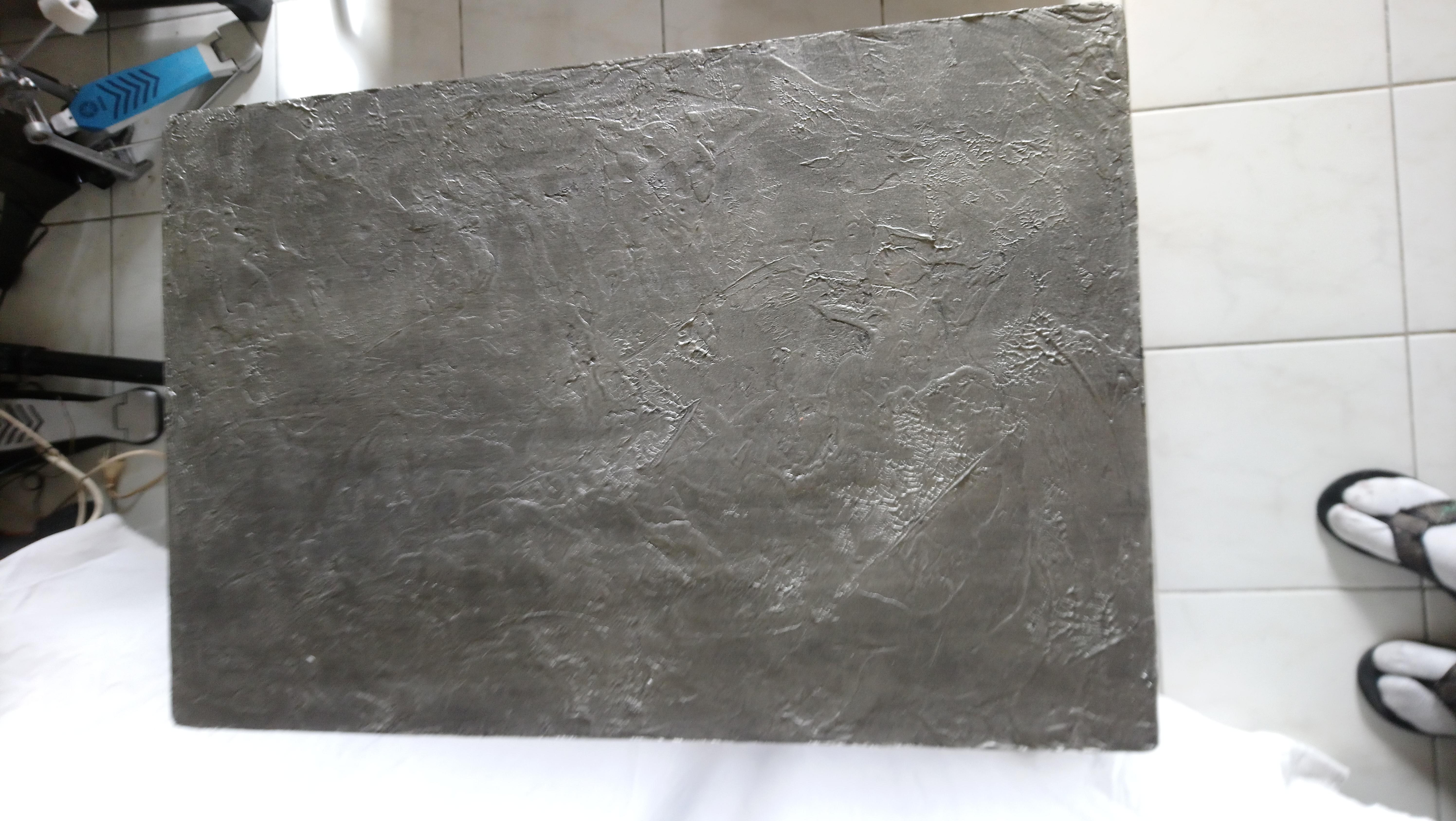 Plateau métalisé