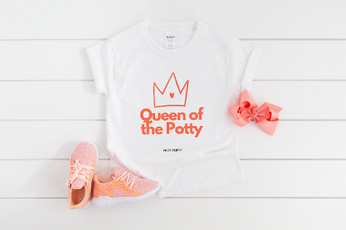Queen of the Potty Toddler Girl Potty Training Tee