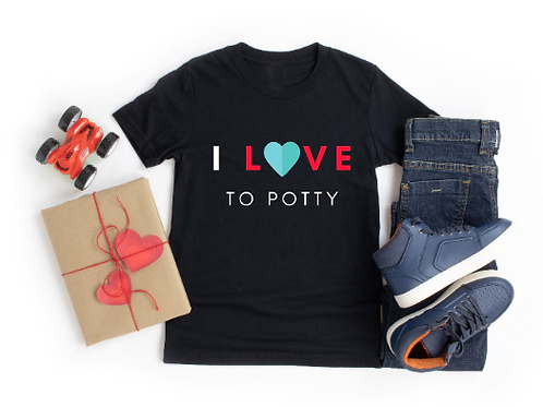 "Unisex Toddler Potty ""I Love to Potty"" Training Tee"
