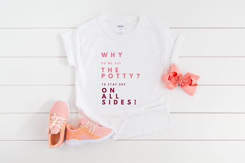 Potty Training Toddler Tee Why Do We Use The Potty?