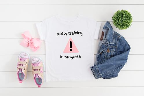 Potty Training in Progress Toddler Potty Training Tee