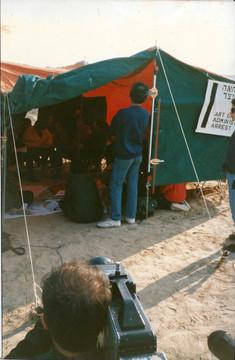 תערוכה באוהל המחאה מול אנסאר 3, ינואר 1989