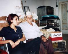 בלוק, תהליך אוצרות שטח, חן שיש עם אביה, צפת, ינואר 1997