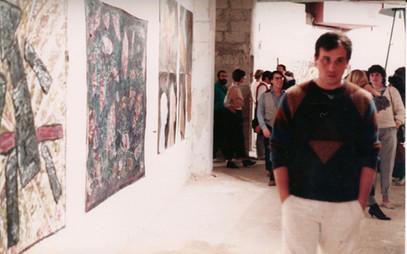 פתיחת תערוכת שלוש שנים לגלריה אחד העם 90 בדיזנגוף סנטר, אפריל 1984