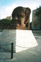 בלוק, תהליך אוצרות שטח, פסל של בן גוריון, אופקים, ינואר 1997