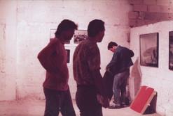 פירוק התערוכה: מימין, שוקה גלוטמן