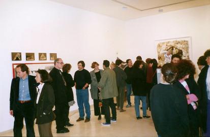 בעז טל, טלי תמיר, גלעד דובשני, יעל רייזנר, פיטר קוק בערב הפתיחה, ינואר 1990