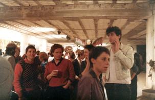 1985 פתיחת תערוכת שלוש שנים לגלריה אחד העם 90 בדיזנגוף סנטר, אפריל
