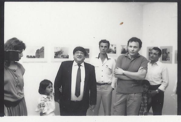 פתיחת התערוכה, סטודנטים מצלמים ביבנה, מאי 1989