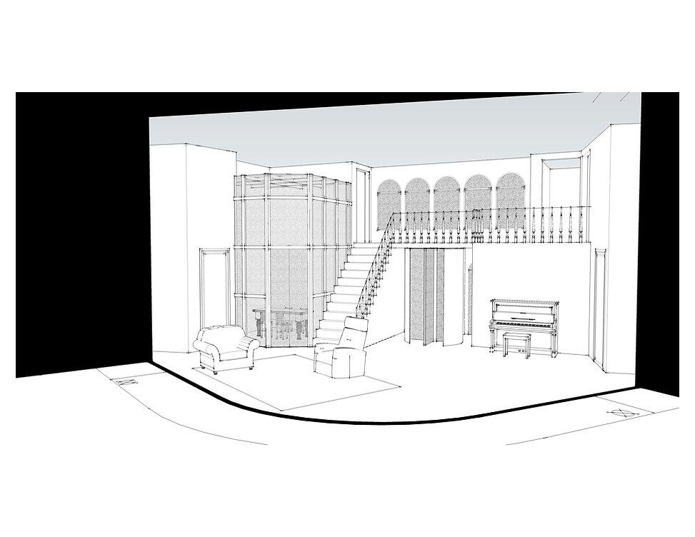 Antigone Set Design - Aaron Harris Woods