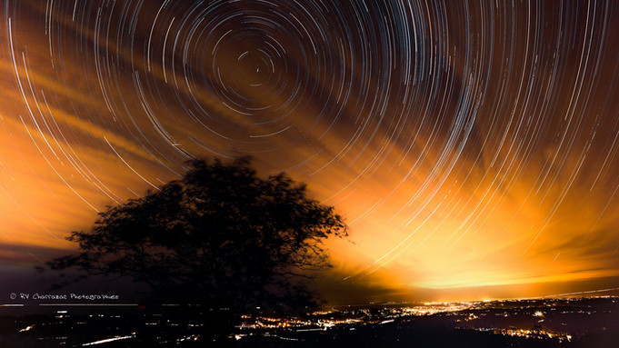 Sillons d'étoiles sur la Côte Basque