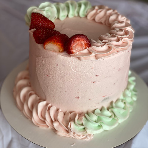 Strawberry Keylime Cake