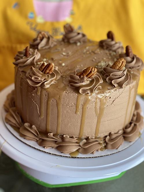 Turtle Brownie Dessert Cake