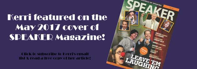 Kerri Pomarolli Featured May 2017 SPEAKER Magazine