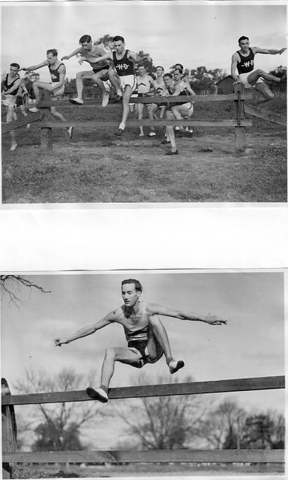 Hurdles incleded; George Nevitt hurdling