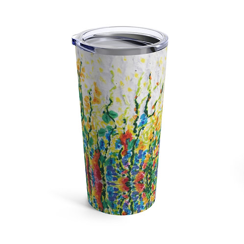 Tumbler 20oz with Lid - Smell the Flowers