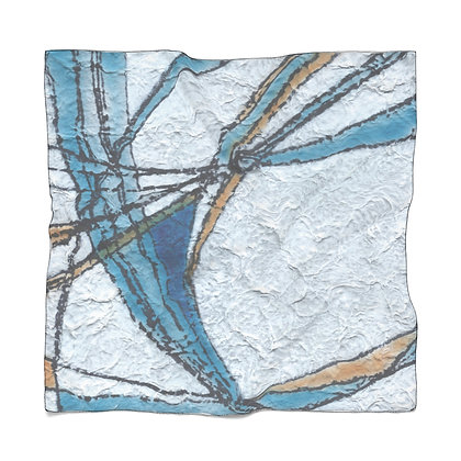 Chiffon Scarf: Blue Vein