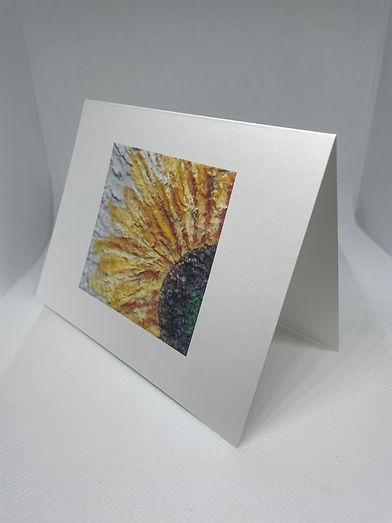 Sunflower Petals notecard