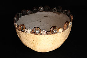 Natural Bowl with Spirals