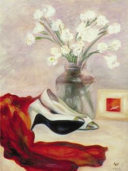 White Shoes & Red Sash