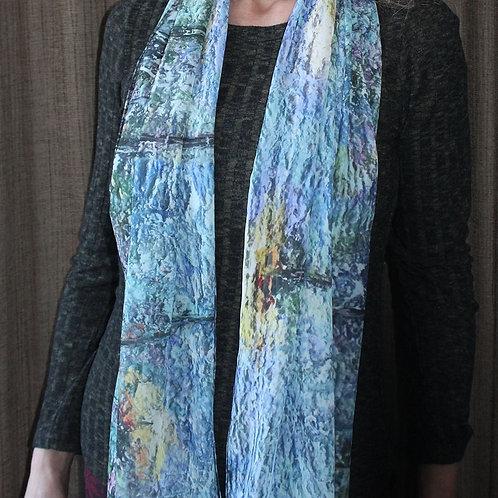 Chiffon Scarf: Wildflowers in Blue - AEV Fine Art