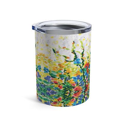 Tumbler 10oz with Lid - Smell the Flowers