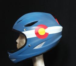 Custom bike helmet (left side)