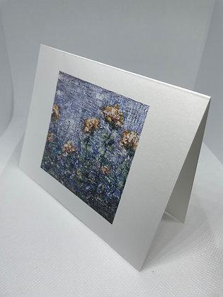 Wildflower Periwinkle notecard