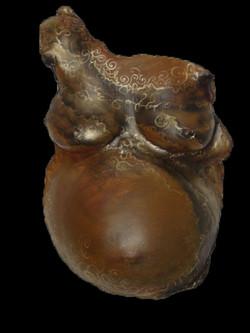 Rich brown body cast