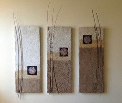 Asian Plum Triptych