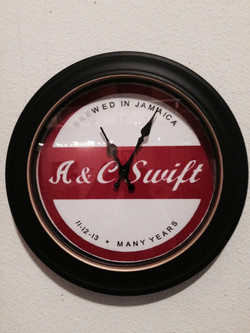 A&C Swift Clock (custom wedding present)