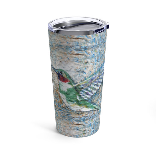 Tumbler 20oz with Lid - Hummingbird Kisses