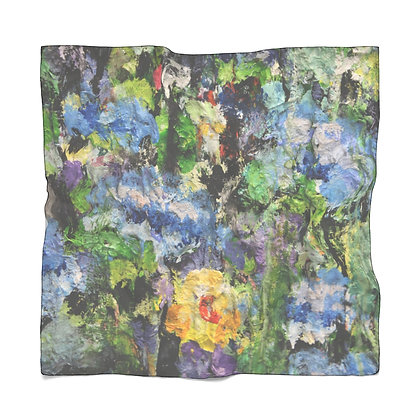 Chiffon Scarf: Blue Petunias