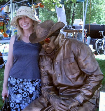 Amy & Bronze guy