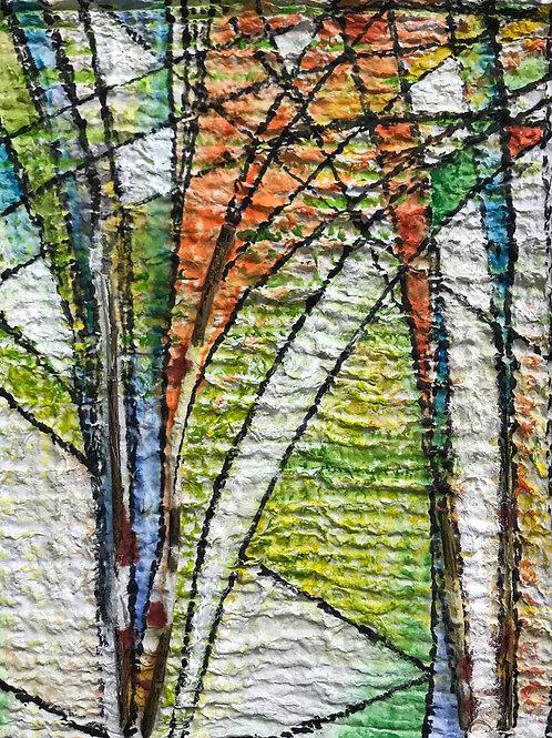 "Freeform Trees, 8"" x 10"""