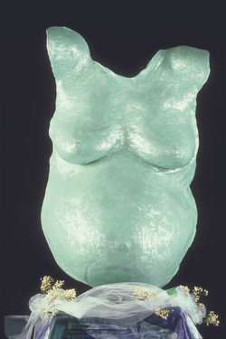 Teal body cast