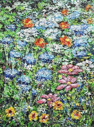 """Wildflower Bunch - 12"""" x 16"""" (SOLD)"""
