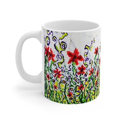 Mug 11oz - Starflowers