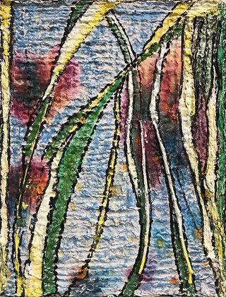 """Tall Grass & Water (original art) 8"""" x 10"""""""